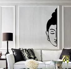 Buddha Room Decor Vinyl Wall Decal Buddha Face Buddhism Decoration Room Stickers