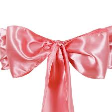 pink chair sashes 50 x satin chair sashes ties bows wedding party catering reception