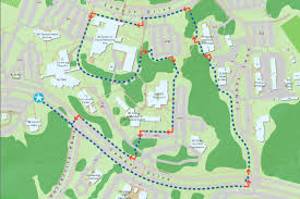 American University Campus Map Uwf Trail Maps University Of West Florida