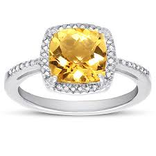 citrine engagement rings 2 60 carat cushion cut citrine and diamond halo cokctail