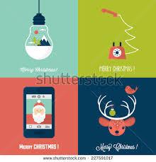 modern christmas cards modern christmas card flat stylish design stock vector 227591017
