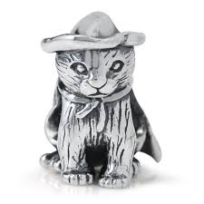 925 sterling silver halloween witch cat european charm bead fits