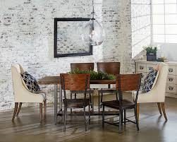 mixed dining room chairs industrial dining with demi wing chairs magnolia home