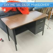 Diy Metal Desk Diy Metal Desk Makeover White Gold Wy Living Pinterest