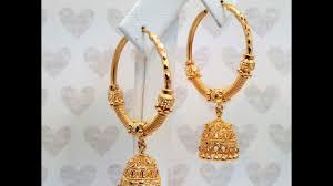 gold jhumka hoop earrings goldshine treasure for generations hoop bali chandelier