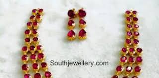 kempu earrings kempu haram jewelry designs jewellery designs