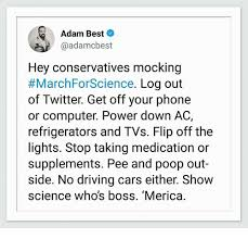 Computer Flip Meme - adam best hey conservatives mocking marchforscience log out of