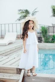2017 2017 baby girls chiffon maxi dresses kids girls fashion beach
