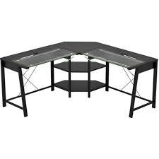 Office L Desk Vance Glass Office L Desk Zl321001ldu Home Office Furniture