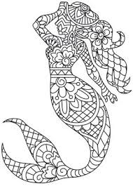 inspired by traditional indian henna this graceful mermaid takes
