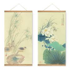 style lotus animals dragonfly decoration wall picture
