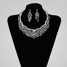 jewelry set wedding jewellery set rhinestone bridal necklace sets