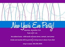 New Year Invitation Card New Years Invitations From Purpletrail