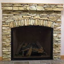 stone fireplaces pictures how to create the stacked stone fireplace look on a budget martha