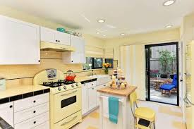 Yellow Kitchens With White Cabinets - sunny yellow retro inspired kitchen jackson design and