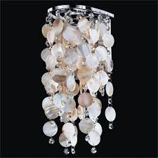 Seashell Light Fixture Ensconced Silver Pearl 1 Light Wall Sconce With Seashell And