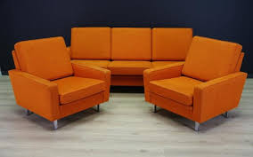 Orange Living Room Set Vintage Orange Living Room Set For Sale At Pamono