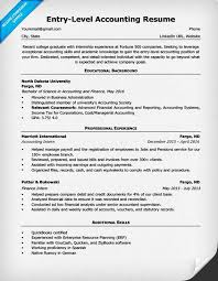 entry level resumes entry level accounting resume sle 4 writing tips rc