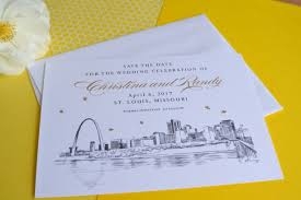 wedding save the date cards st louis skyline save the date cards aftcra