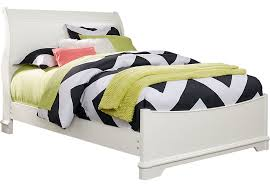 White Sleigh Bed Oberon White 3 Pc Full Sleigh Bed Full Beds Colors