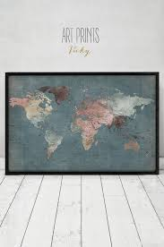 World Map Art Print by 97 Best Watercolor Maps Images On Pinterest Maps Posters