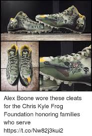 Chris Kyle Meme - kyle alex boone wore these cleats for the chris kyle frog