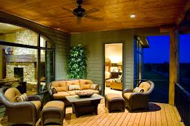 loveseat covers in porch traditional with sunroom and a deck next