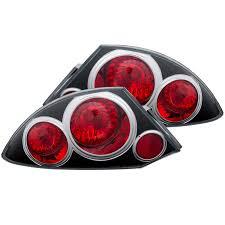 eclipse mitsubishi 2000 anzo usa mitsubishi eclipse 00 05 tail lights black euro tail