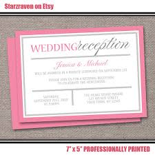 wedding invitation reception wording pink reception only invitations modern pink and gray design