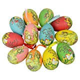 pastel easter egg ornaments 12 assorted designs