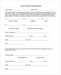 actor release forms sample talent release form template 9 free