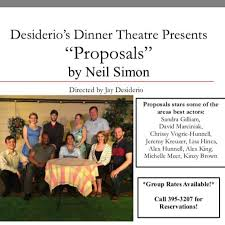 The Dinner Party Neil Simon Script - desiderio u0027s dinner theatre cheektowaga new york menu prices
