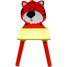 kids animal table and chairs kids tiger chair 26 8 x 26 x 52 cm hobbycraft