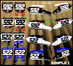 motocross race numbers rusk racing custom motocross graphics and decals thick stickers