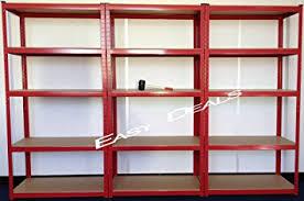 scaffali fai da te easydeals scaffale per garage a 3 sezioni e 5 mensole in