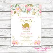 bridal tea party invitation tea party invitation bridal shower invitation bridal tea
