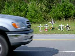 roadside crosses roadside memorial crosses highway 69 south arab alabama