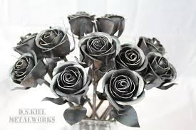 metal roses 11th anniversary gift 11 steel roses metal bouquet