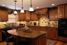 Pictures Of Kitchens With Oak Cabinets by Amazing Decorating Ideas Using Rectangular Brown Wooden