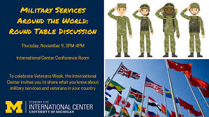 University Of Michigan Flag Military Services Around The World Round Table Discussion