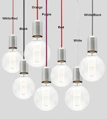 Pendant Light Cords Davoluce Lighting Presents Ma99 Fabric Cord Pendant Light