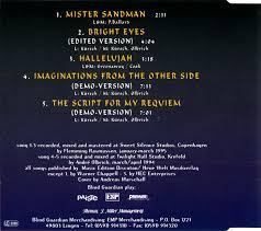 Blind Guardian Tabs The Forgotten Tales U0027 Keeper Blind Guardian Singles Mr Sandman
