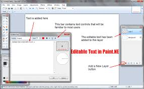 how to edit text in paint net