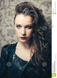 Halloween Glamour Makeup Fashion Woman Model Face With Bright Glamour Makeup Stock Photo