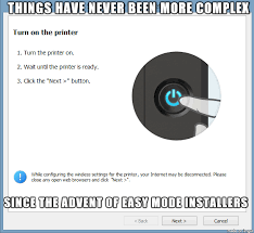 Printer Meme - six hours later gave up time to buy a new printer meme on
