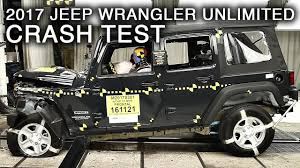 jeep wrangler unlimited 2017 jeep wrangler unlimited frontal crash test youtube