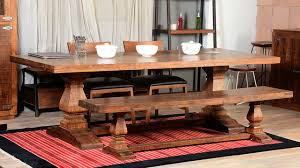 Dining Room Tables Rustic Exquisite Farmhouse Trestle Traditional Rustic Dining Table Bench