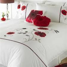 Red And Cream Duvet Cover Red U0026 Orange Poppy Print Double Duvet Cover Bed Set Http Www
