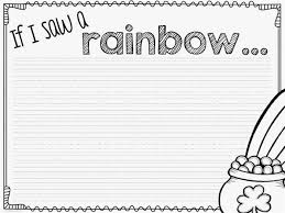 st patrick u0027s day rainbow craftivity with free writing prompt