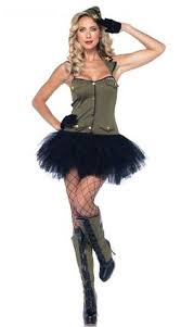 Halloween Army Costume Wicked Green Camouflage Commander Cutie Army Soldier